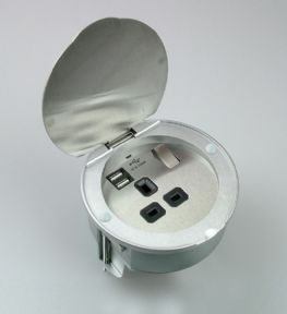 PGS/USB - 13A Stainless Steel Power Grommet with USB